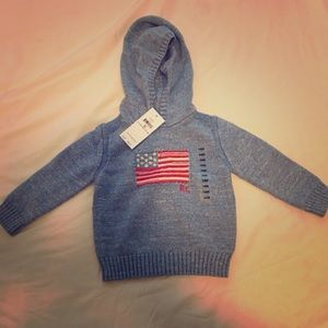 RL American Flag infant sweater size 18m